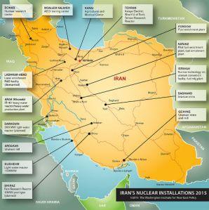 carte nucleaire Iran