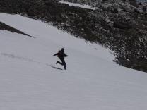 Les pentes du col du Granon (2413 m) en hiver.