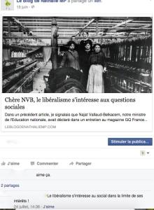 Capture d'écran question sociale Photo retouchée