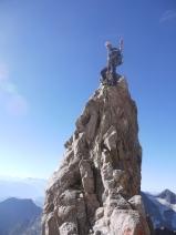 Titou (guide préféré) au sommet des Arêtes de Sialouze (massif des Ecrins).